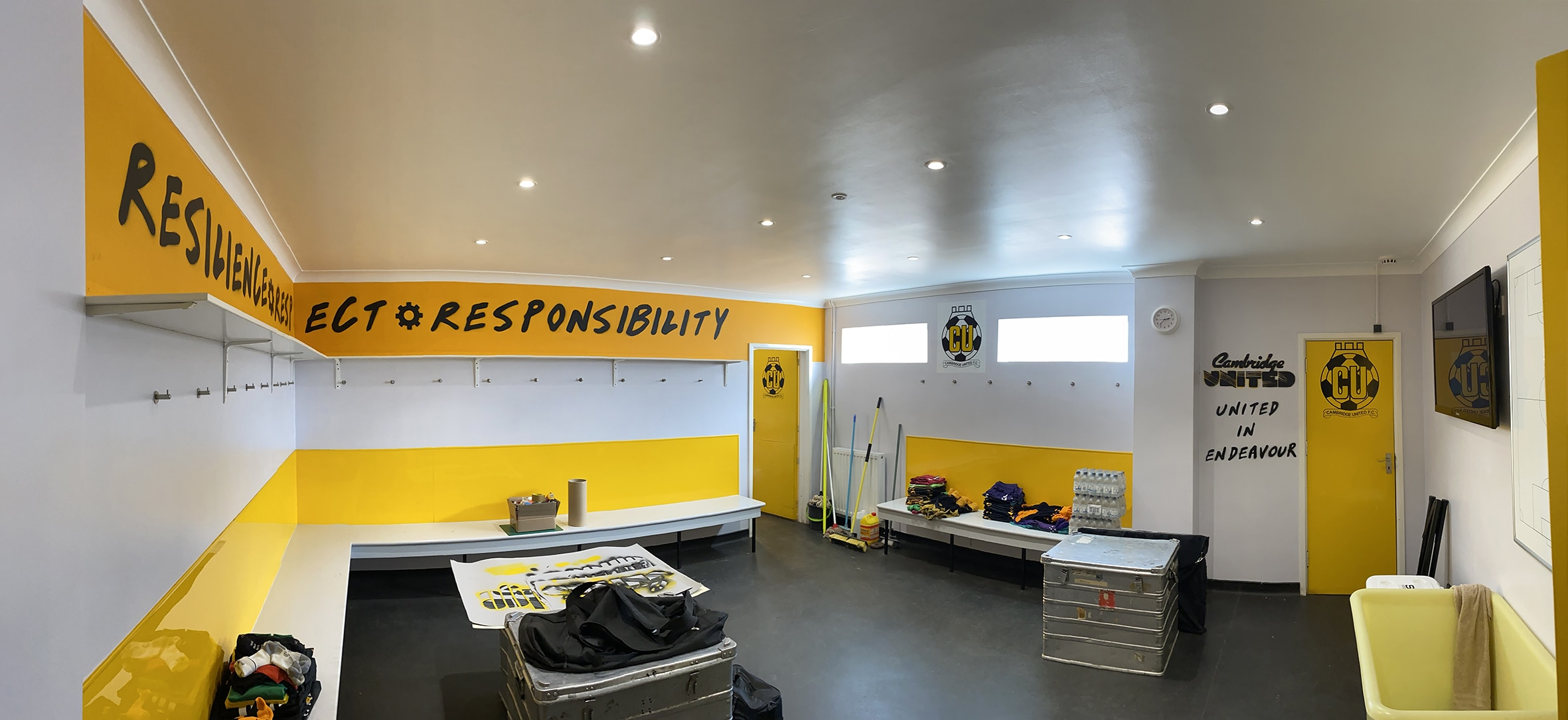 Mural and art work commission for Cambridge United Football Club